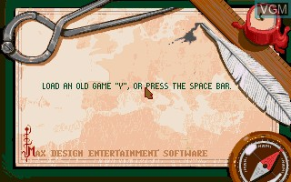 Menu screen of the game 1869 - History Experience Part I on Commodore Amiga