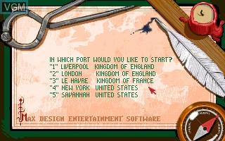Menu screen of the game 1869 on Commodore Amiga