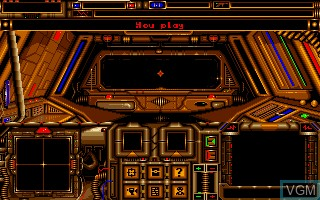 Menu screen of the game A.G.E. - Advanced Galactic Empire on Commodore Amiga
