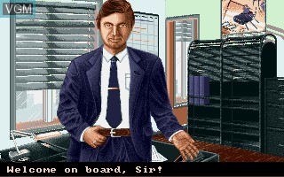 Menu screen of the game A320 Airbus - Edition USA on Commodore Amiga