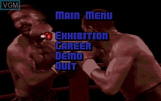 Menu screen of the game ABC's Wide World of Sports - Boxing on Commodore Amiga
