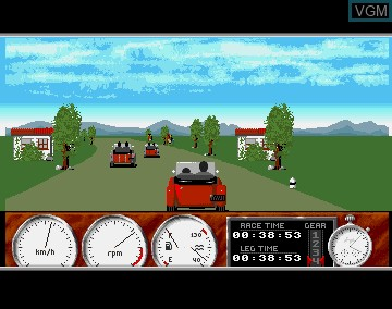 In-game screen of the game 1000 Miglia on Commodore Amiga
