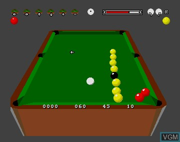 In-game screen of the game 3D Pool on Commodore Amiga