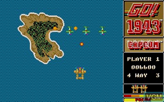 In-game screen of the game 1943 - The Battle of Midway on Commodore Amiga