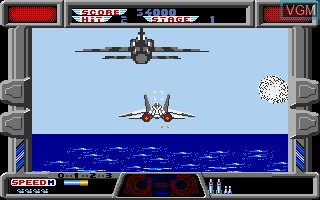 In-game screen of the game After Burner on Commodore Amiga