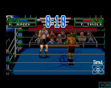In-game screen of the game 3D World Boxing on Commodore Amiga