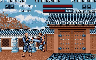 In-game screen of the game Street Fighter on Commodore Amiga