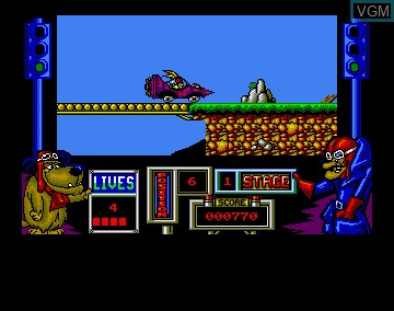 In-game screen of the game Wacky Races on Commodore Amiga