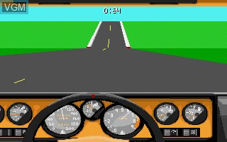 In-game screen of the game 4D Sports Driving on Commodore Amiga