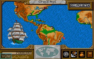 In-game screen of the game 1869 on Commodore Amiga