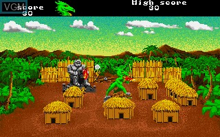 In-game screen of the game Aaargh! on Commodore Amiga