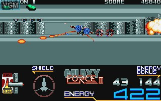In-game screen of the game Galaxy Force II on Commodore Amiga