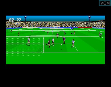 In-game screen of the game 3D World Soccer on Commodore Amiga