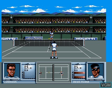 In-game screen of the game 3D World Tennis on Commodore Amiga