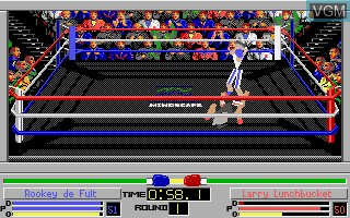 In-game screen of the game 4D Sports Boxing on Commodore Amiga