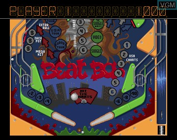 In-game screen of the game Pinball Dreams on Commodore Amiga