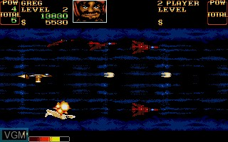 In-game screen of the game U.N. Squadron on Commodore Amiga