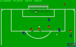 In-game screen of the game 1st Division Manager on Commodore Amiga