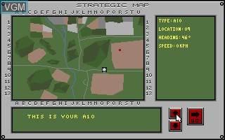 In-game screen of the game A-10 Tank Killer on Commodore Amiga