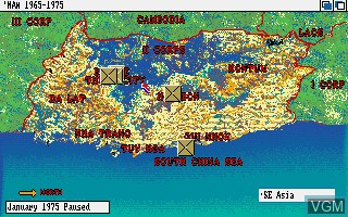In-game screen of the game Nam 1965 - 1975 on Commodore Amiga