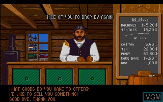In-game screen of the game 1869 - History Experience Part I on Commodore Amiga