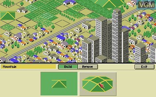 In-game screen of the game A-Train Construction Set on Commodore Amiga