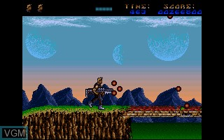 In-game screen of the game A.M.C. - Astro Marine Corps on Commodore Amiga