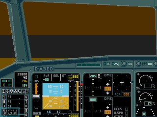 In-game screen of the game A320 Airbus on Commodore Amiga