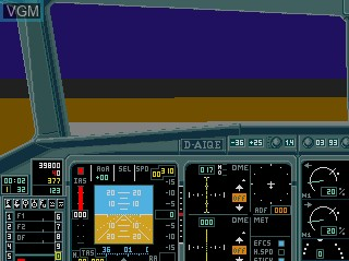 In-game screen of the game A320 Airbus - Edition Europa on Commodore Amiga