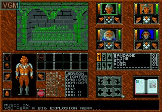 In-game screen of the game Abandoned Places - A Time for Heroes on Commodore Amiga