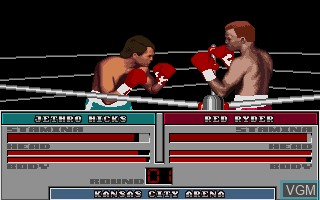 In-game screen of the game ABC's Wide World of Sports - Boxing on Commodore Amiga
