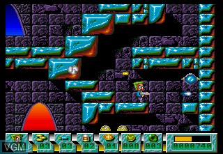 In-game screen of the game Action Cat on Commodore Amiga