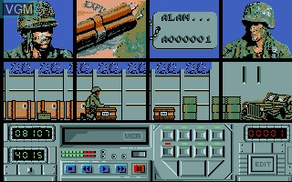 In-game screen of the game Action Service on Commodore Amiga