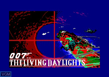 Title screen of the game 007 - The Living Daylights on Amstrad CPC
