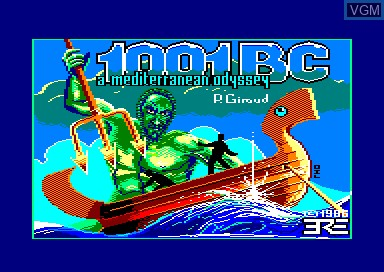 Title screen of the game 1001 BC on Amstrad CPC