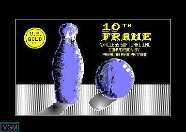 Title screen of the game 10th Frame on Amstrad CPC