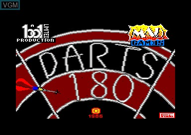 Title screen of the game 180 Darts on Amstrad CPC