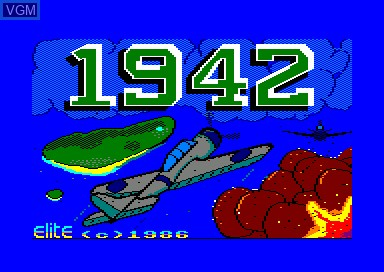 Title screen of the game 1942 on Amstrad CPC
