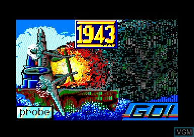 Title screen of the game 1943 on Amstrad CPC