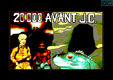 Title screen of the game 20000 Avant J.C. on Amstrad CPC