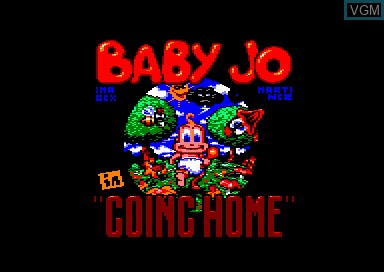 Title screen of the game Baby Jo - Going Home on Amstrad CPC