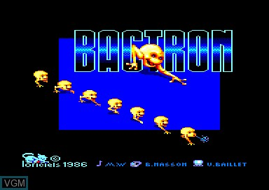 Title screen of the game Bactron on Amstrad CPC
