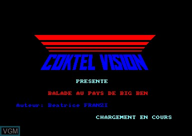 Title screen of the game Balade Au Pays De Big-Ben on Amstrad CPC