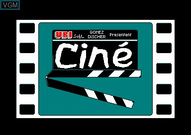Title screen of the game Cine Clap on Amstrad CPC