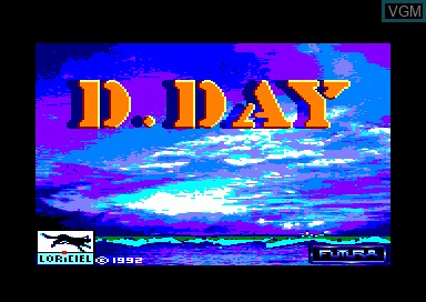Title screen of the game D-Day on Amstrad CPC