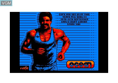 Title screen of the game Daley Thompson's Olympic Challenge on Amstrad CPC