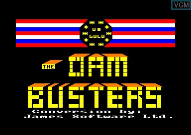 Title screen of the game Dam Busters, The on Amstrad CPC