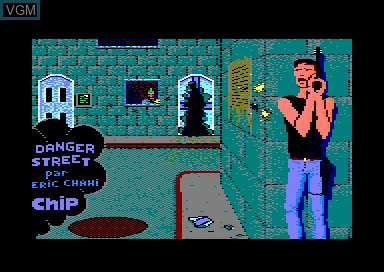 Title screen of the game Danger Street on Amstrad CPC