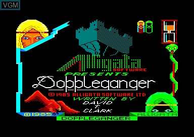 Title screen of the game Doppleganger on Amstrad CPC