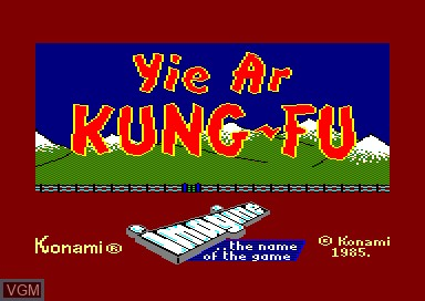 Title screen of the game Yie Ar Kung Fu on Amstrad CPC